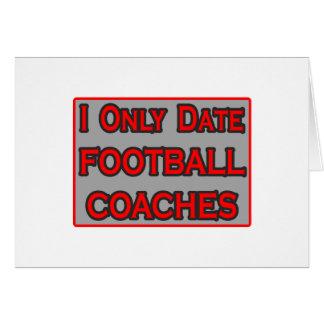 Fecho solamente a los entrenadores de fútbol tarjeta