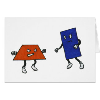 Federación de lucha del polígono tarjeta de felicitación