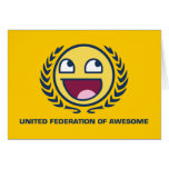 Federación unida de impresionante felicitación