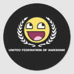 Federación unida de impresionante pegatinas redondas