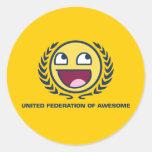 Federación unida de impresionante etiquetas redondas