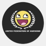 Federación unida de impresionante pegatinas