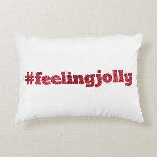 #feelingjolly - almohada de la decoración del