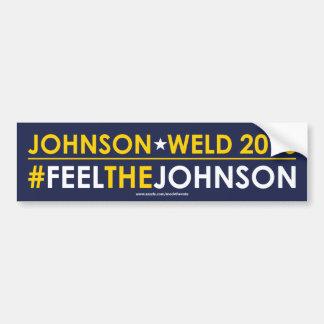 #FEELTHEJOHNSON libertario de la pegatina para el Pegatina Para Coche