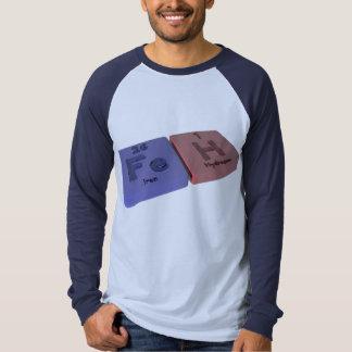 Feh como el hierro del FE e hidrógeno de H Camisas
