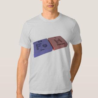 Feh como el hierro del FE e hidrógeno de H Camisetas