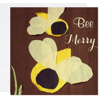 """Felices"""" abejas felices de la """"abeja invitación 13,3 cm x 13,3cm"""