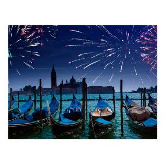Felices Año Nuevo de la postal de Venecia