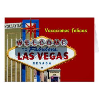 Felices buenas fiestas tarjeta de Las Vegas Vaca