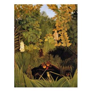 Felices bufones de Henri Rousseau Postal