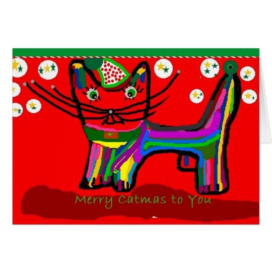 Felices catmas a usted tarjeta de felicitación