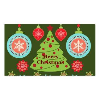 Felices copos de nieve del árbol de navidad del dí plantillas de tarjetas personales