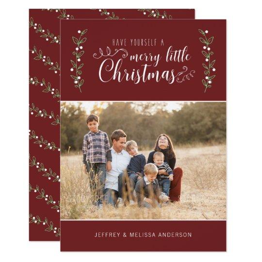 Felices Felices Navidad de las bayas el | del Invitación 12,7 X 17,8 Cm