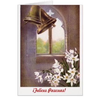 Felices formal clásico Pascuas (español) Tarjeta