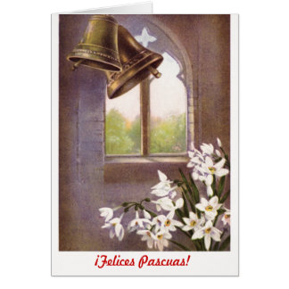 Felices formal clásico Pascuas (español) Tarjeta Pequeña