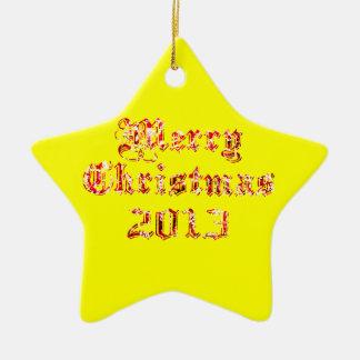 Felices Navidad 2013 Adorno Navideño De Cerámica En Forma De Estrella