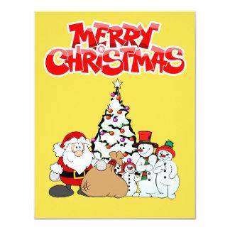 "Felices Navidad 4,25"" x 5,5"" tarjeta plana de la"