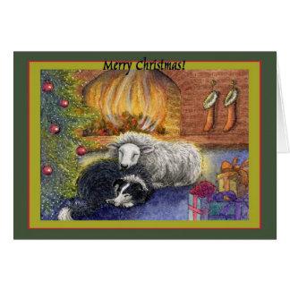 ¡Felices Navidad a la oveja! Tarjeta