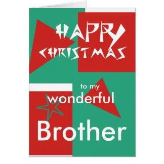 Felices Navidad a mi hermano maravilloso Tarjeta De Felicitación