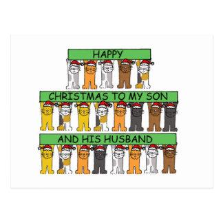 Felices Navidad a mi hijo y a su marido Postales