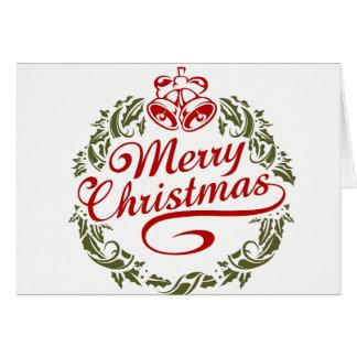 Felices Navidad a toda la tarjeta
