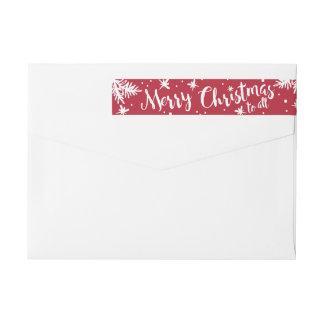 Felices Navidad a todas las etiquetas del día de Etiquetas Postales