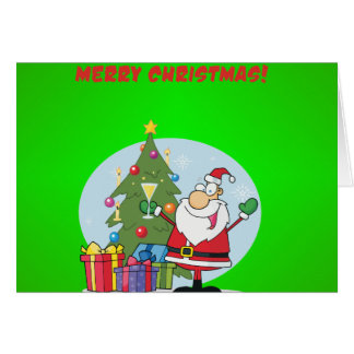 Felices Navidad a todos y a todos buenas noches Tarjeta De Felicitación