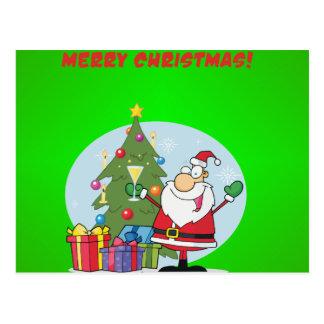 Felices Navidad a todos y a todos buenas noches Tarjeta Postal
