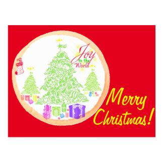 ¡Felices Navidad!  Alegría a la galleta del mundo Postal