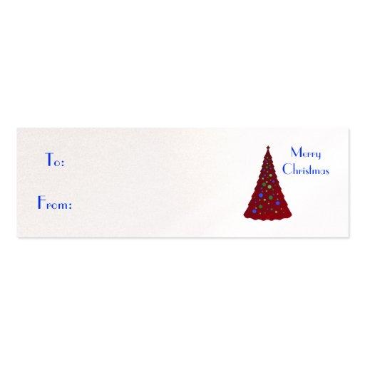 Felices Navidad, árbol de navidad rojo Plantillas De Tarjetas Personales