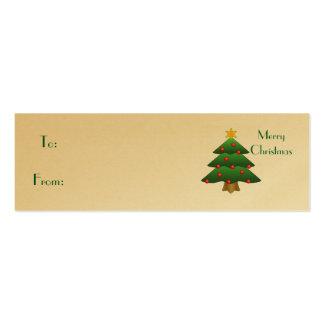 Felices Navidad, árbol de navidad Plantilla De Tarjeta De Negocio