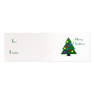Felices Navidad, árbol de navidad Plantillas De Tarjetas Personales