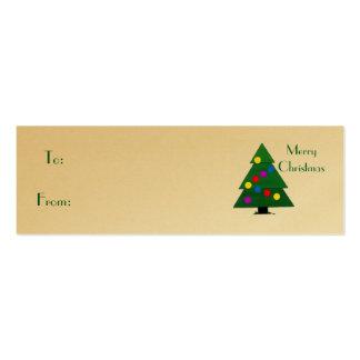 Felices Navidad, árbol de navidad Tarjetas De Visita