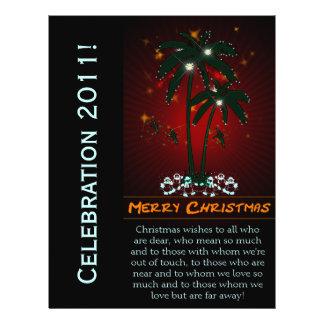 Felices Navidad - aviador del acontecimiento Folleto 21,6 X 28 Cm