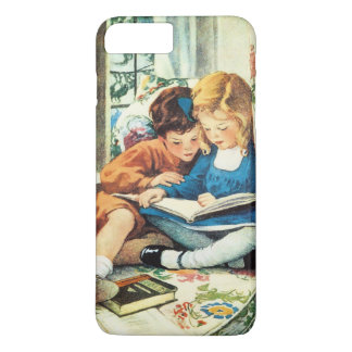 Felices Navidad, bella arte de Jessie Willcox Funda iPhone 7 Plus
