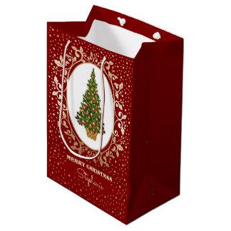 Felices Navidad. Bolsos de papel conocidos de Bolsa De Regalo Mediana