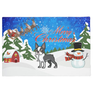 Felices Navidad Boston Terrier
