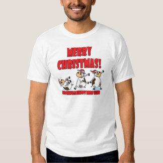 Felices Navidad Breakdancing Camisetas