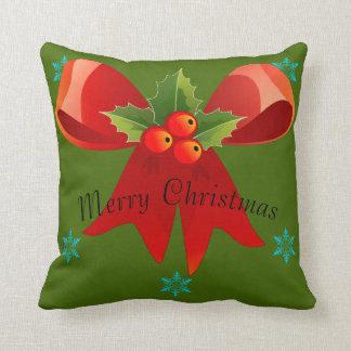 Felices Navidad/buenas fiestas almohada (arco