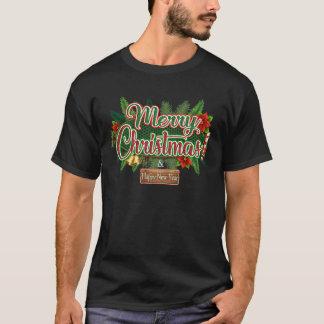 Felices Navidad - camiseta del día de fiesta de la