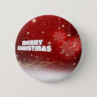 Felices Navidad Chapa Redonda De 5 Cm