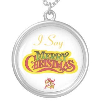 Felices Navidad Colgante Redondo