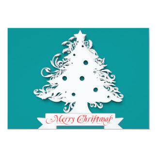 Felices Navidad con día de fiesta del árbol Invitación 12,7 X 17,8 Cm