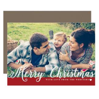 Felices Navidad con el saludo del día de fiesta de Invitación 12,7 X 17,8 Cm