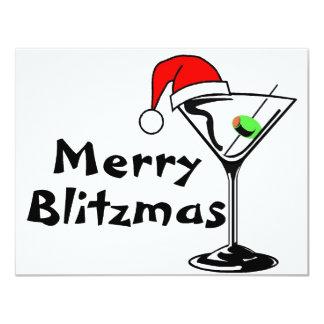 Felices Navidad de Blitzmas Invitación 10,8 X 13,9 Cm