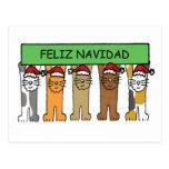 Felices Navidad de Feliz Navidad en español Postal