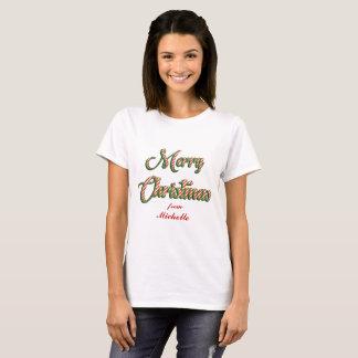 Felices Navidad de la camiseta adaptable de