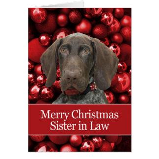 Felices Navidad de la cuñada brillante del Tarjeta De Felicitación