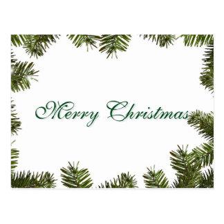 Felices Navidad de la decoración verde elegante Postal