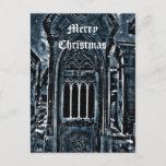 Felices Navidad de la escena gótica del cementerio